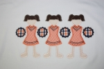 Cheerleader Trio Applique